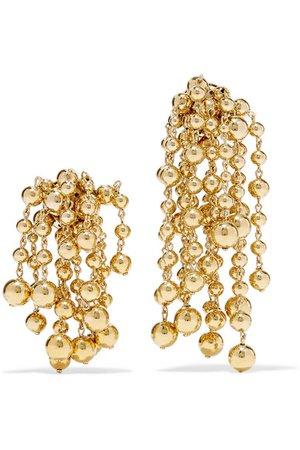 Jacquemus   Les Perles Yasmin gold-tone clip earrings   NET-A-PORTER.COM