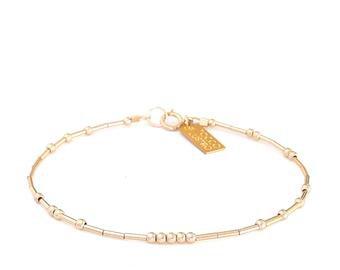 gold bracelet delicate bracelet tiny gold bracelet gold | Etsy