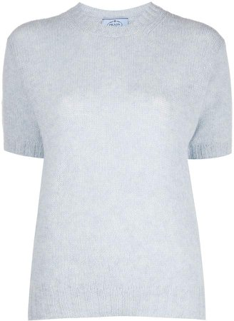 Short-Sleeve Knitted Top