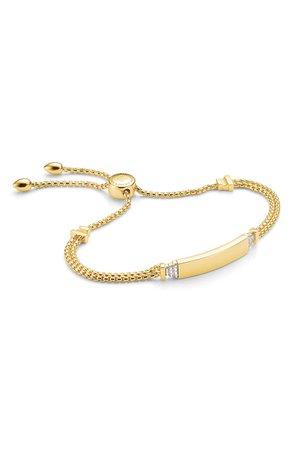 Monica Vinader Baja Deco ID Diamond Slide Bracelet | Nordstrom