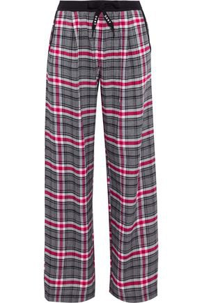 Checked flannel pajama pants   DKNY   Sale up to 70% off   THE OUTNET