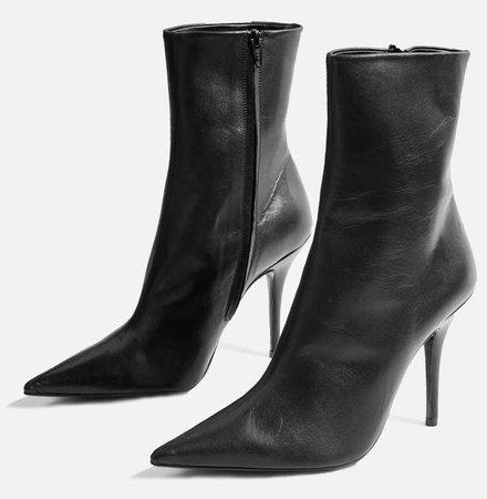 TOPSHOP Black Hazzard Boots