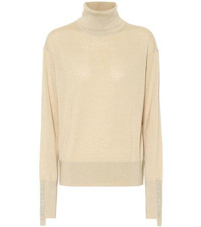 Burberry - Merino-wool and silk turtleneck sweater | Mytheresa