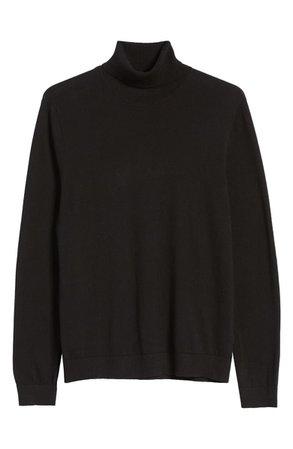 Topman Solid Cotton Turtleneck Sweater   Nordstrom