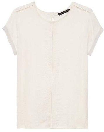 Soft Stretch Embroidered T-Shirt