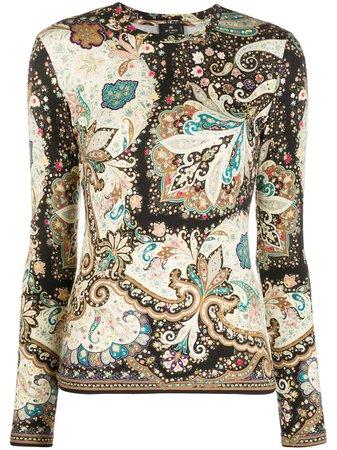 Etro long-sleeved paisley-print Top - Farfetch