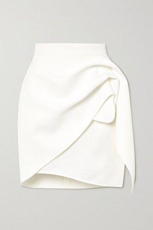 Splendid Gathered Stretch-crepe Mini Skirt - White