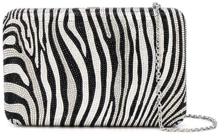 Couture Seamless zebra print clutch