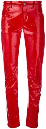 Wandering varnished slim trousers