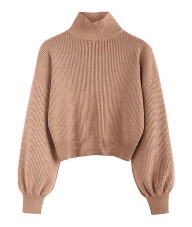 Zaful high neck drop shoulder sweater