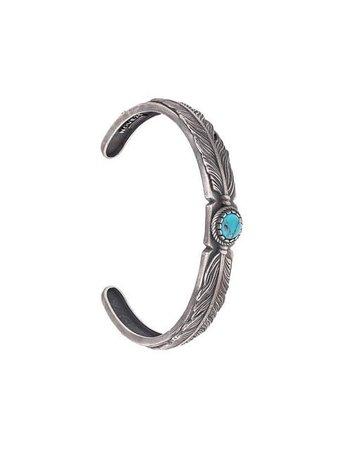 Nove25 Feather Stone Cuff Bracelet