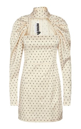 Kaya Polka-Dot Cutout Satin Mini Dress By Rotate | Moda Operandi
