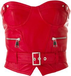 red leather top