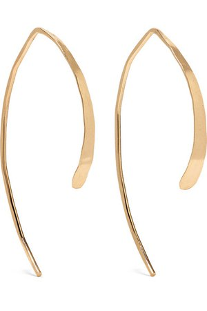 Melissa Joy Manning | Wishbone 14-karat gold earrings | NET-A-PORTER.COM
