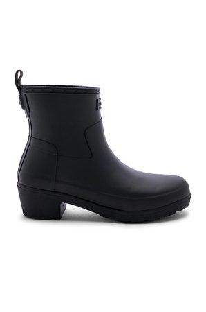 Refined Low Heel Ankle Matte Boot