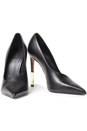 Black Leather pumps | Sale up to 70% off | THE OUTNET | BALMAIN | THE OUTNET