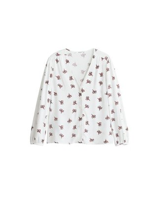 MANGO Buttoned printed blouse