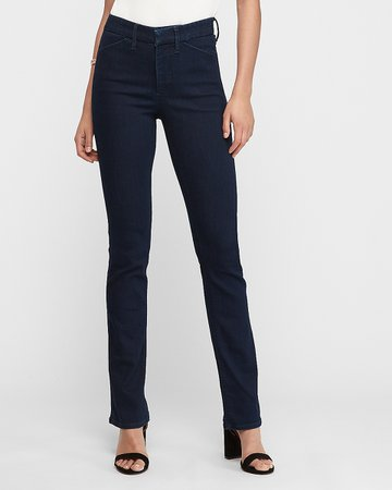 High Waisted Denim Perfect Barely Boot Jeans | Express | $88