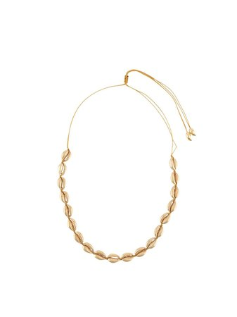 Gold Tohum puka shell necklace MEDIUMPUKASHELLNECKLACE - Farfetch