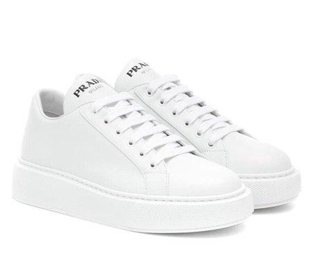 prada (white) leather sneakers