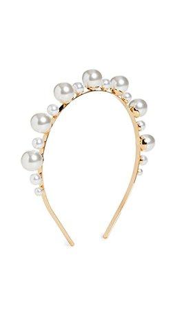 LELET NY Mega Drop Imitation Pearl Headband   SHOPBOP