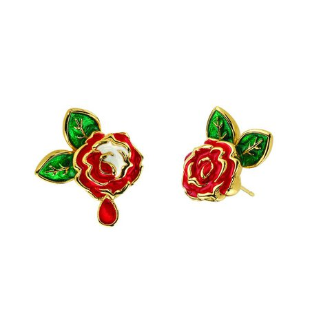 Disney X RockLove Alice in Wonderland Painting the Roses Stud Earrings – RockLove Jewelry