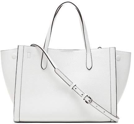 Italian Leather Medium Tailored Tote Bag