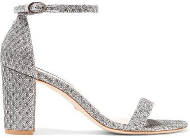 Nearlynude Metallic Jacquard Sandals - Silver