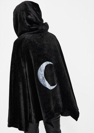 Punk Rave Dark Velvet Embroidered Cloak Jacket | Dolls Kill