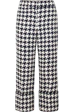 Oscar de la Renta | Cropped houndstooth wool-blend tweed straight-leg pants | NET-A-PORTER.COM