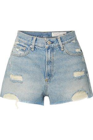 rag & bone | Maya distressed denim shorts | NET-A-PORTER.COM