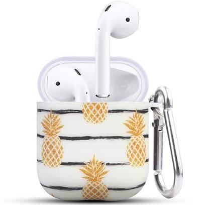 white airpod case with pom pom