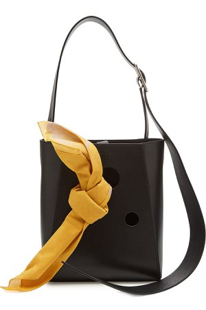 Small Leather Bucket Bag Tote Gr. One Size