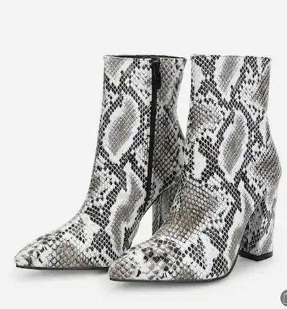 snake leather boots