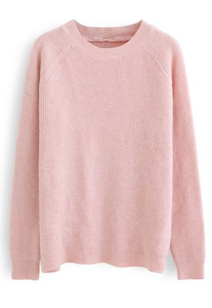 Basic Soft Touch Oversized Knit Sweater in Pink - Retro, Indie and Unique Fashion