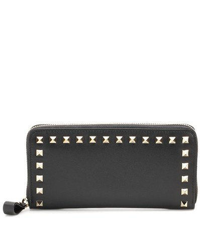 Valentino Garavani Rockstud leather zip-around wallet