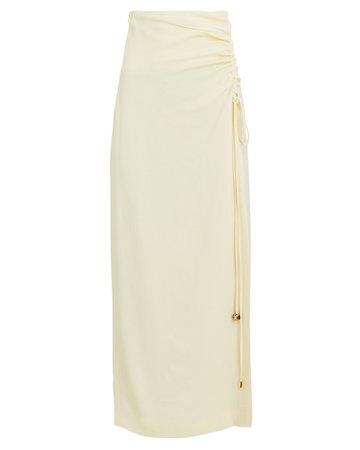 Nanushka Malorie Ruched Midi Skirt | INTERMIX®