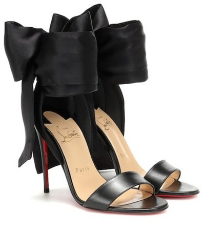 shoes, high heels, louboutin, christian louboutin heels, louboutin, luxe, luxury, black, red, black high heels - Wheretoget