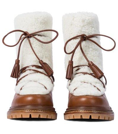 AQUAZZURA Shearling ankle boots