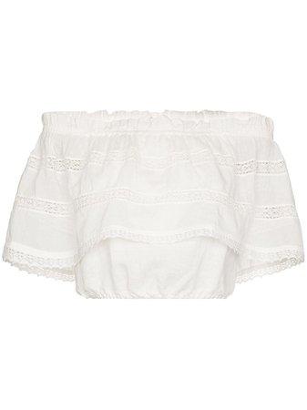 BOTEH open knit off-shoulder blouse