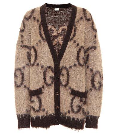 Gg Reversible Mohair-Blend Cardigan   Gucci - Mytheresa