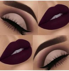 Pinterest - Beautiful Makeup Ideas with Maroon Lips picture 3 | Makeup