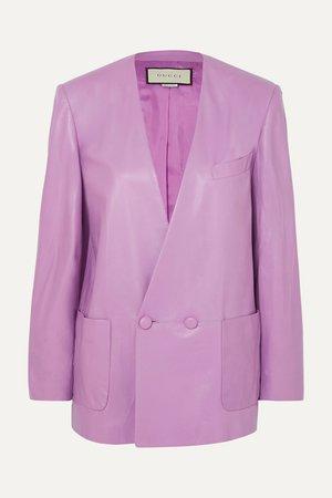 Lilac Leather blazer | Gucci | NET-A-PORTER