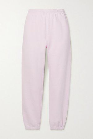 Cotton-jersey Track Pants - Pastel pink