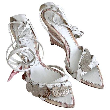 Cloth sandals Dior Pink