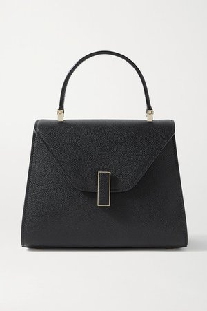 Iside Mini Textured-leather Tote - Black