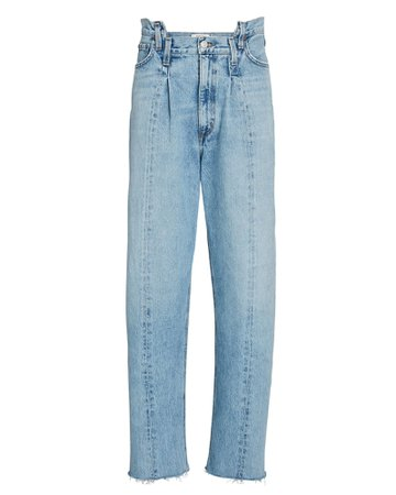AGOLDE Pieced Angled Wide-Leg Jeans | INTERMIX®