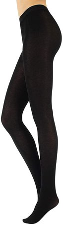 CALZITALY - Cashmere Wool Tights – Fleece Lined Warm Pantyhose for Women - 150 DEN (M, Black) at Amazon Women's Clothing store