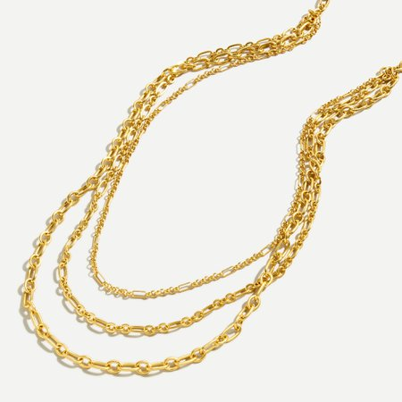J.Crew: Layered Chain Link Necklace For Women