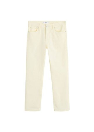 MANGO Color straight jeans